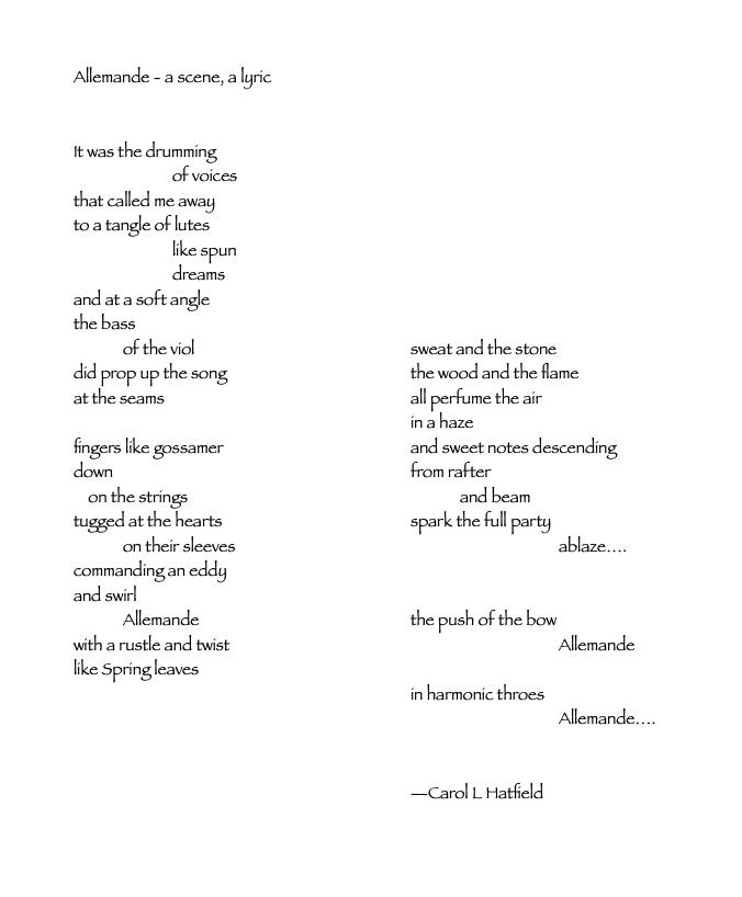 allemande - a scene, a lyric