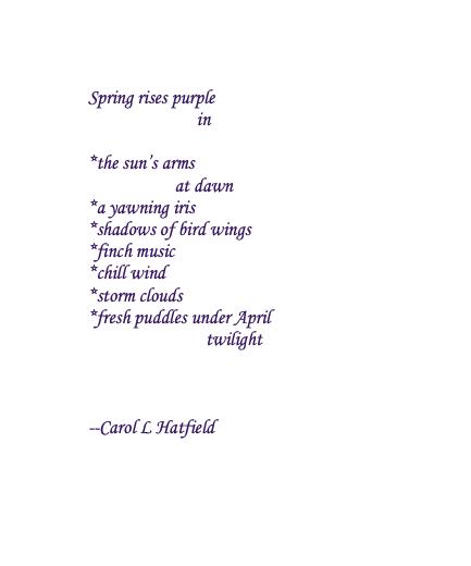 Spring rises purple