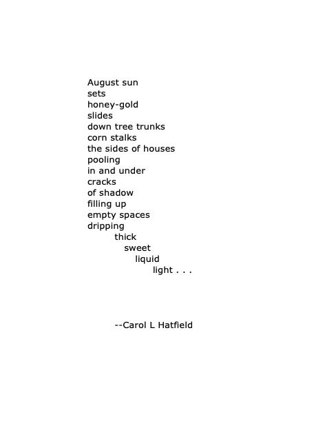 August sun sets honey gold