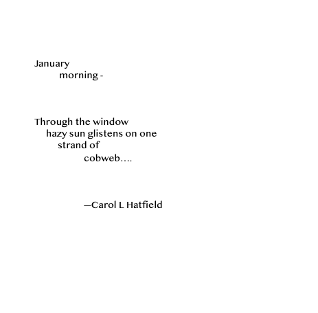 January morning - haiku