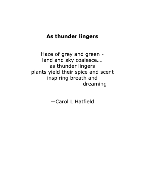 TANKA - As thunder lingers